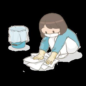 ウイルス性胃腸炎の処理方法
