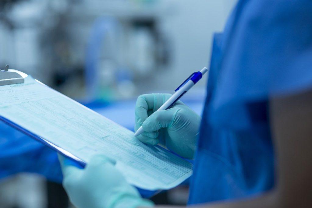 卵巣嚢腫摘出術で手術室へ入室